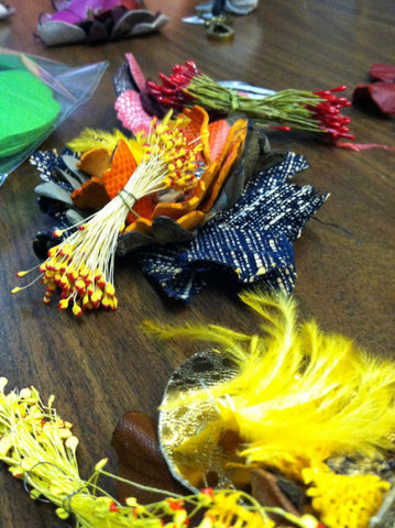 millinery pips and feathers
