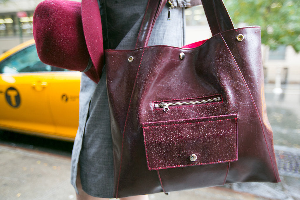 waterproof laptop tote wine vegan bag