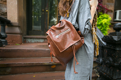 glaze coated canvas backpack by crystalyn kae