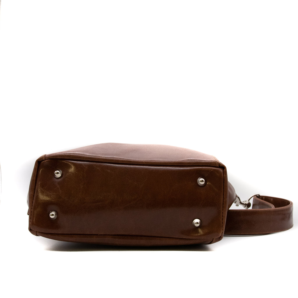 Mini Troubadour Tote - Ale Brown