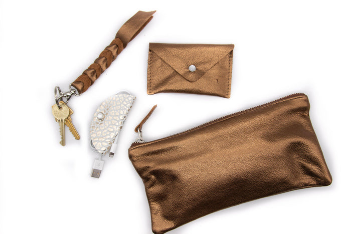 Bronze Leather Gift Set