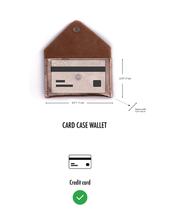Card Case Wallet- Kelly Green Recycled Leather
