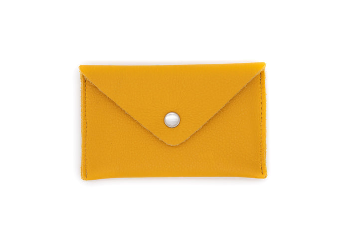 Card Case Wallet - Yellow Leather