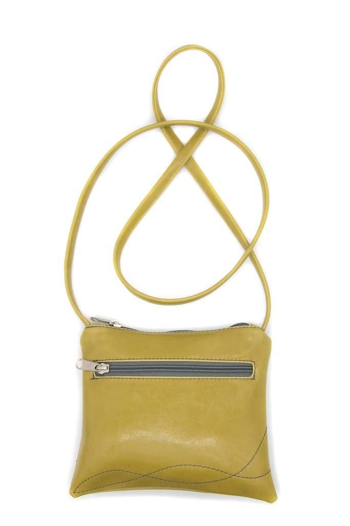 Cha Cha Small Crossbody Bag - Citrine Green Vegan Leather -made in usa