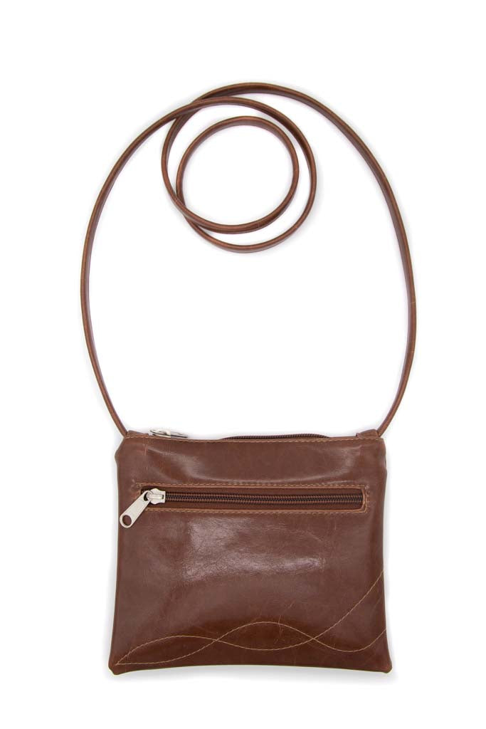 Cha Cha Small Crossbody Bag - Ale Brown Vegan Leather