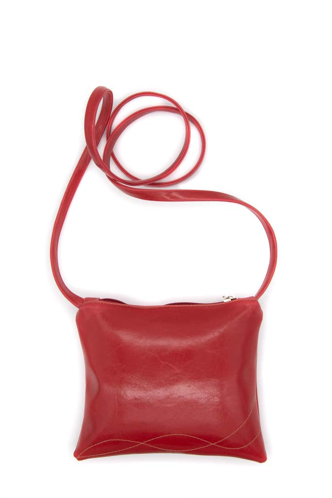 Cha Cha Small Crossbody Bag - Cherry Red Vegan Leather