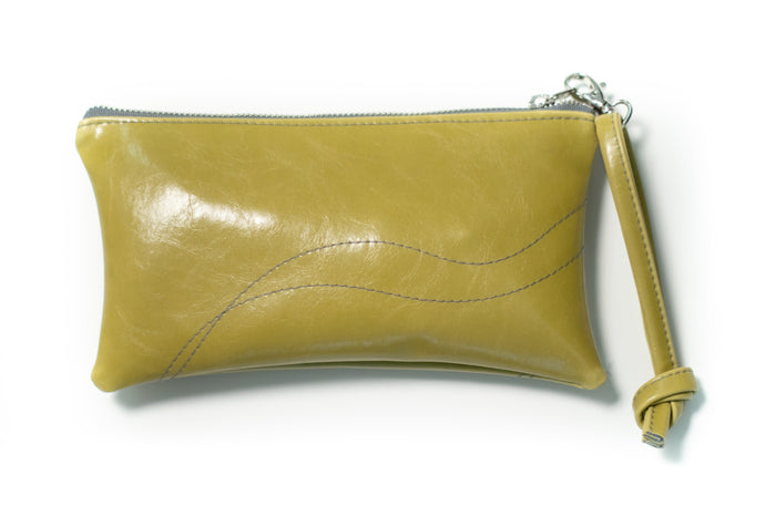 clutch wristlet Large Valet Pouch Citrine Vegan Leather