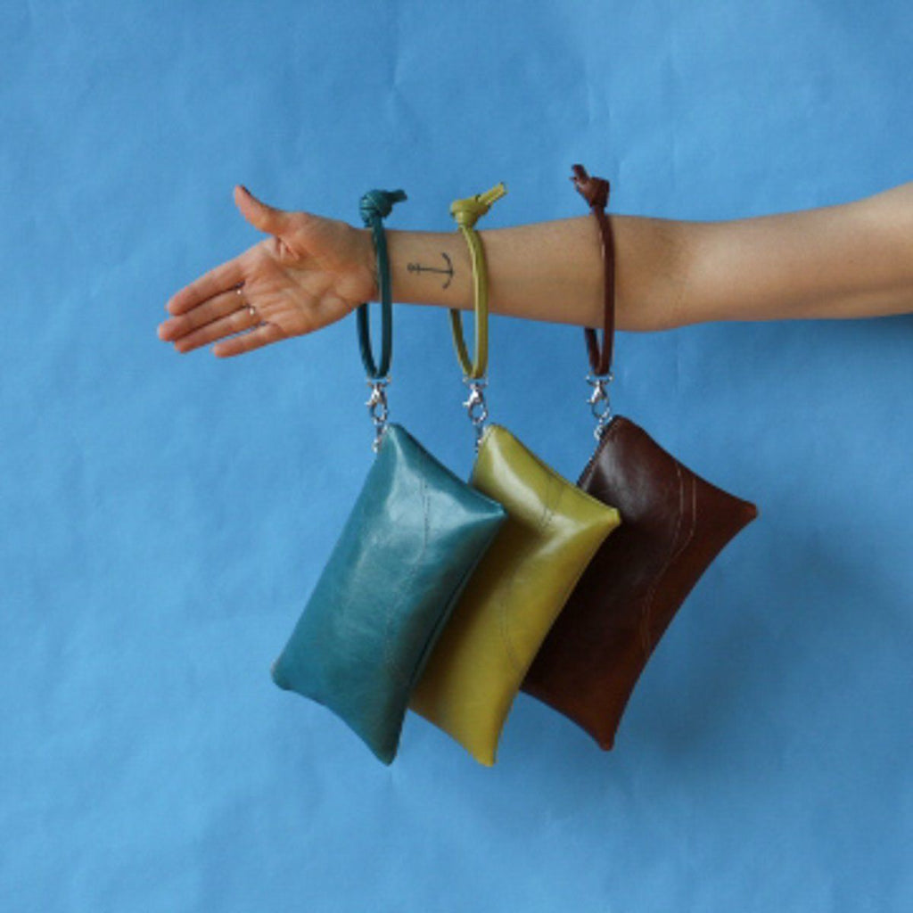 Large Valet Pouch Citrine Vegan Leather