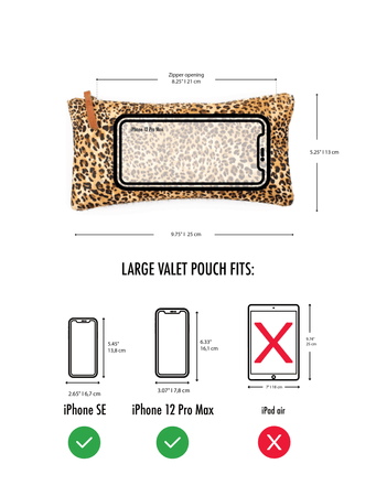 Large Valet Pouch measurements