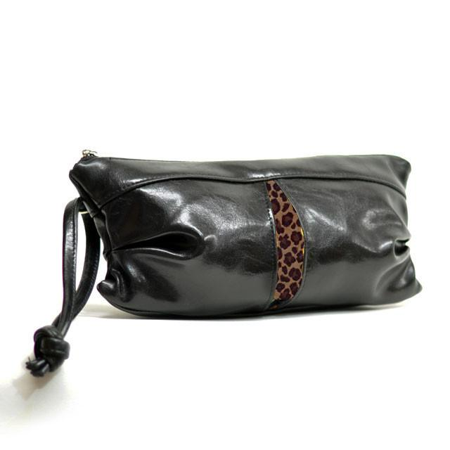 Pleated Clutch - Rescued Leather Special Order