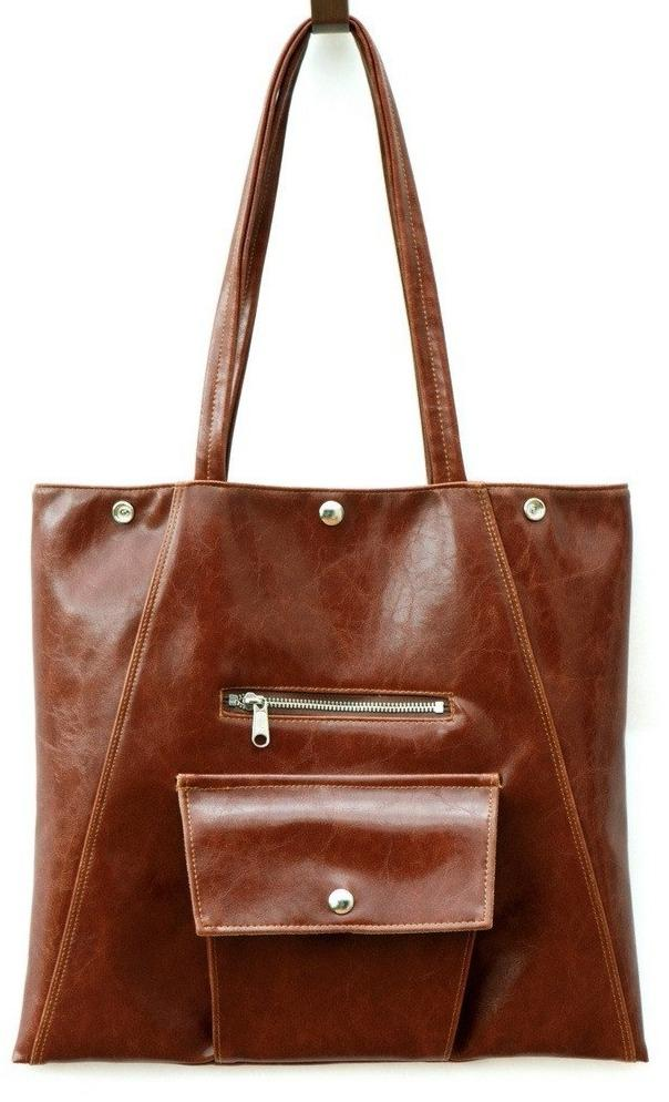 Womens Tote Bag - Metier Tote - Ale Brown Vegan Leather