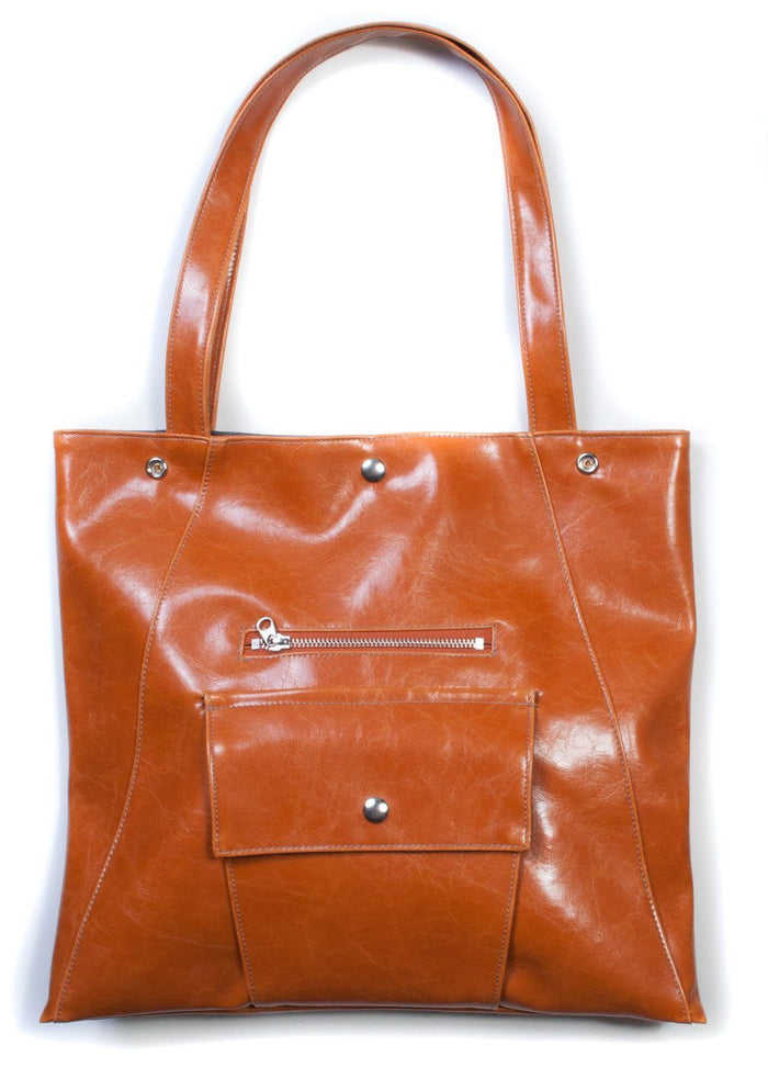 Womens Tote Bag - Metier Tote - Butterscotch Vegan purse made in usa