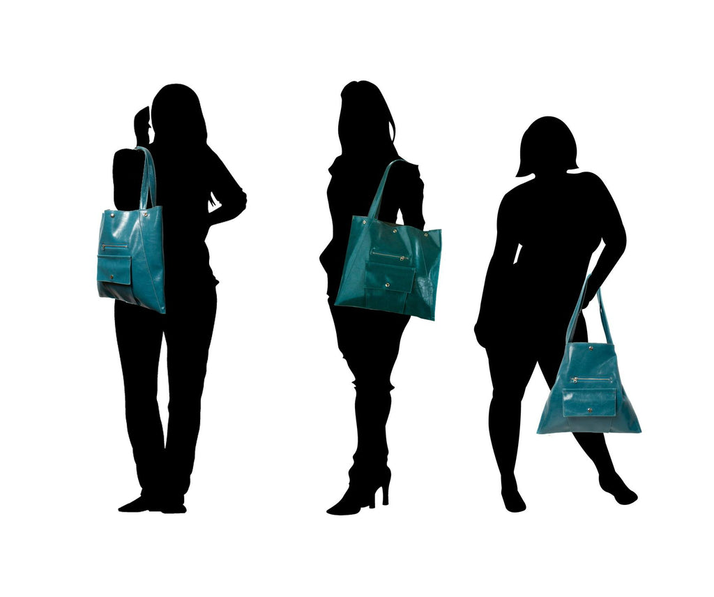 silhouettes of women wearing Womens Tote Bag - Metier Tote -