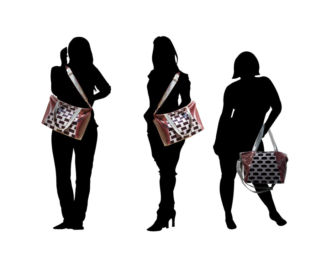 silhouettes of women wearing Womens Tote Bag - Troubadour Tote -