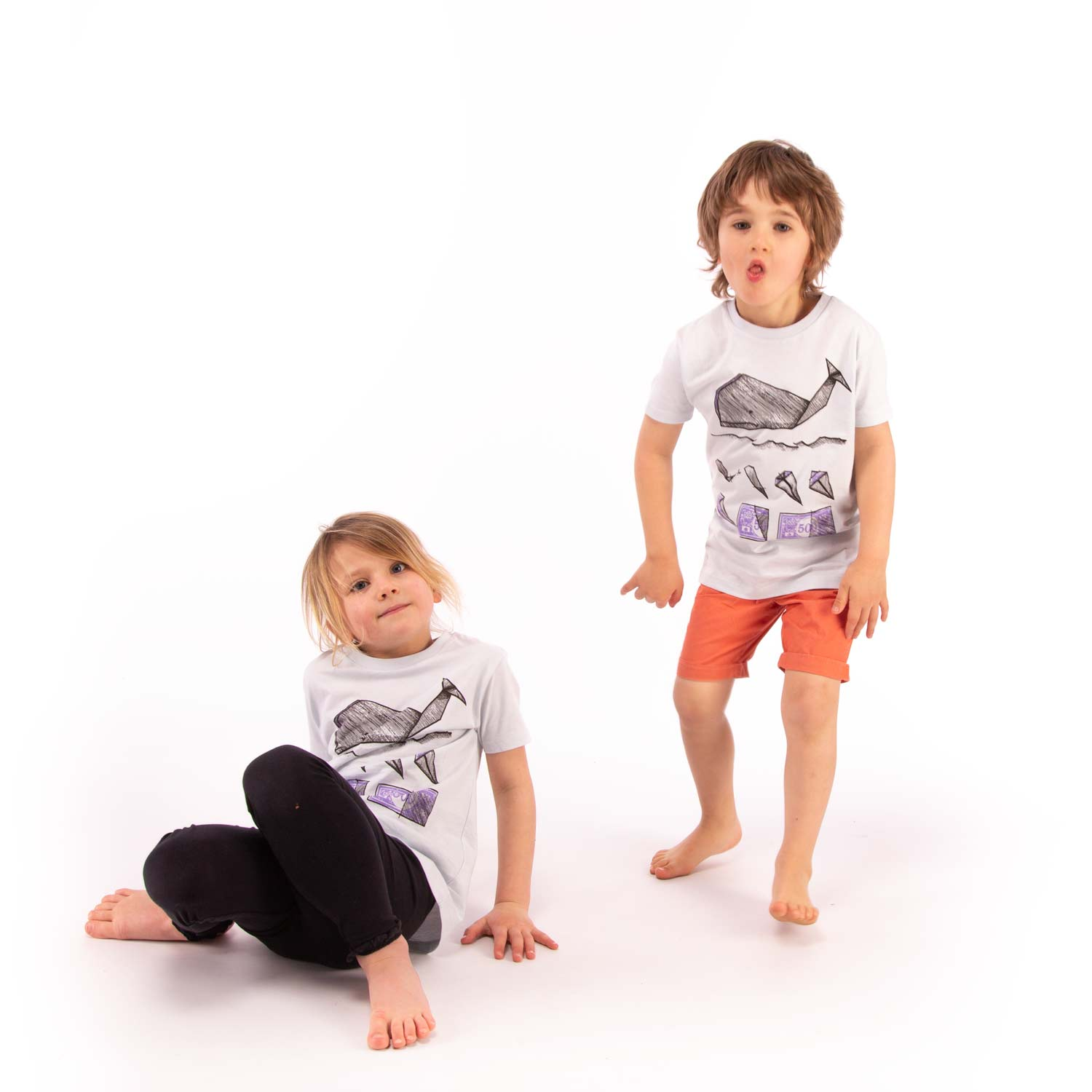 WHALE KIDS - Unisex Stop Commercial Whaling T-Shirt