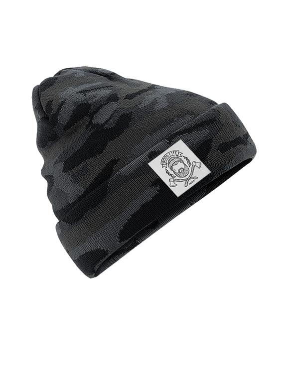 "BONNET | ""Woodlife"" - Black Camo - Woodlife - Les Bûcherons"