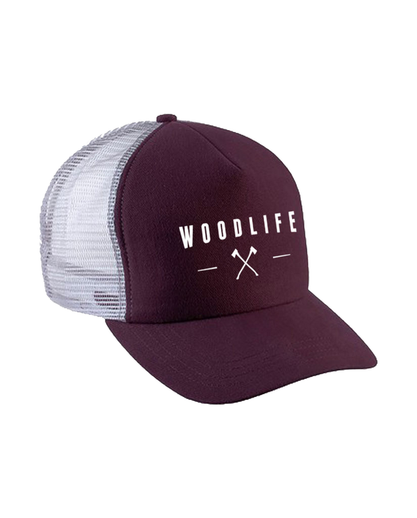 Casquette filet Trucker - Woodlife Hâches - Bordeaux - Woodlife - Les Bûcherons