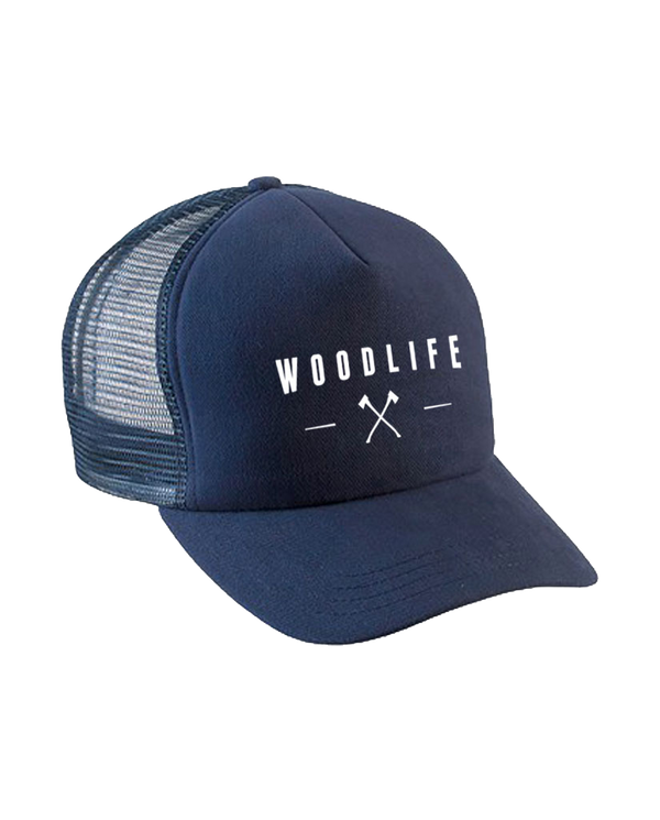 Casquette filet Trucker - Woodlife Hâches - Navy - Woodlife - Les Bûcherons