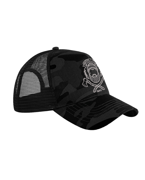 Casquette filet Trucker - Woodlife - Black Camo - Woodlife les Bûcherons