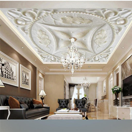 3D Ceiling - 3D Embossed Pattern Ceiling Self-Adhesive Wallpaper Stickers