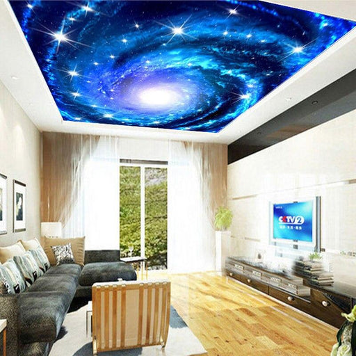 3D Ceiling - 3D Galaxy Nebula Ceiling Mural Wallpaper Stickers
