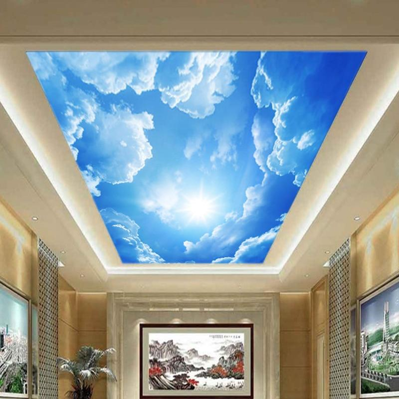 3d Sky White Clouds Ceiling Wallpaper Stickers Index Cove