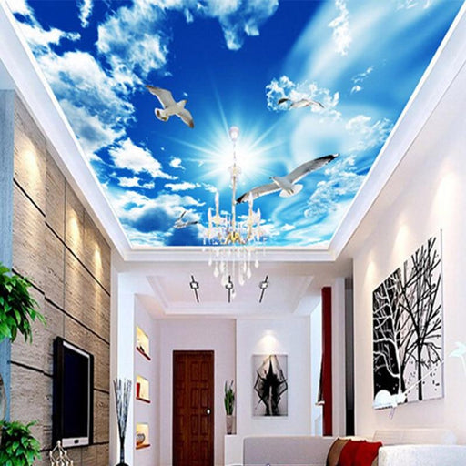 3D Ceiling - Doves & Skies Mural Ceiling Wallpaper Stickers
