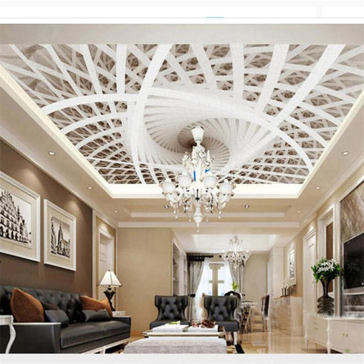 3D Ceiling - Geometric Stereo Art Ceiling Wallpaper Stickers