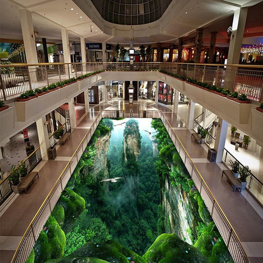 3D Flooring - 3D Cliff Scenery Mural Floor Wallpaper Stickers