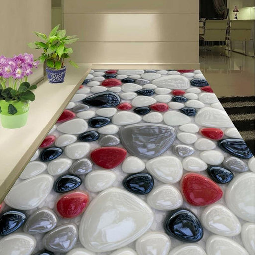 3D Flooring - 3D Color Stones Wall Painting Wallpaper Stickers