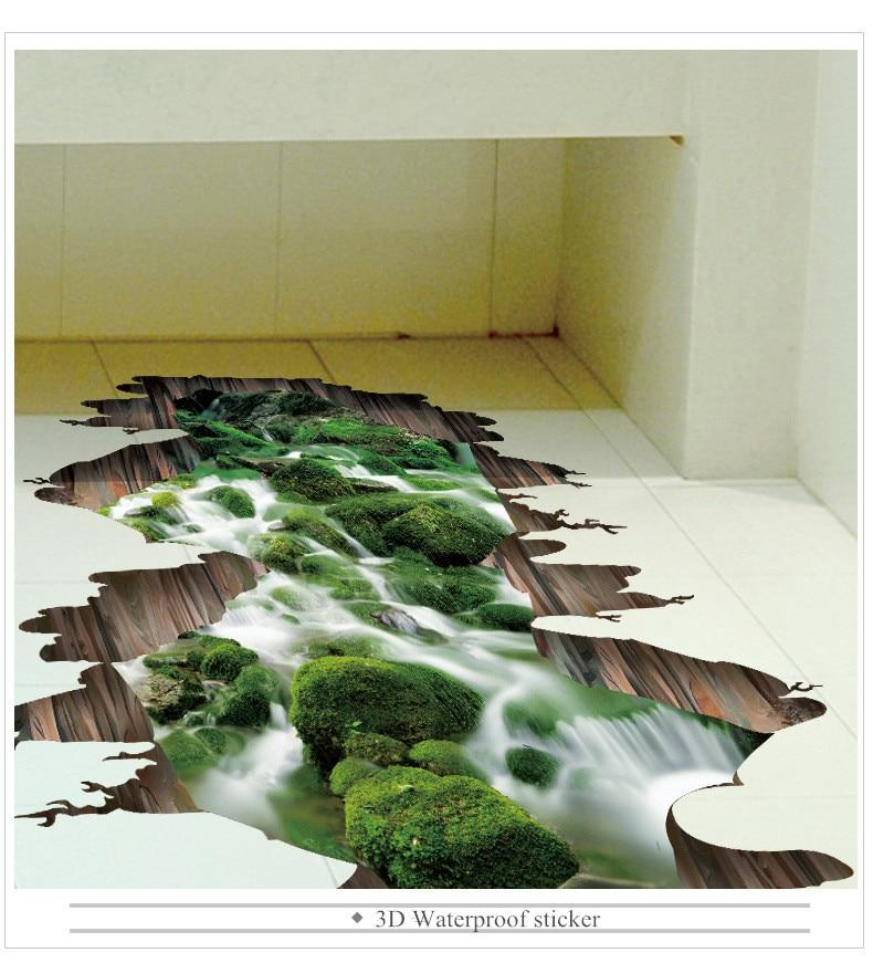 3d Cracked Nature Vinyl Wall Stickers