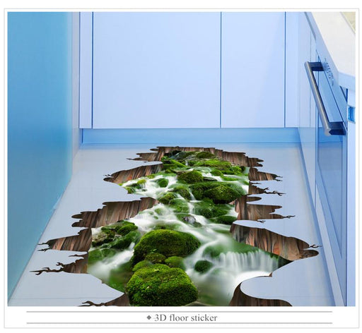 3D Flooring - 3D Cracked & Nature Vinyl Wall Stickers