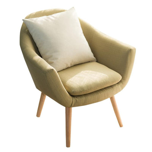 Accent & Armchairs - Elegant Upholstered Fabric With Solid Wood Legs Accent Chair