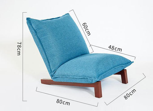 Accent & Armchairs - Foldable Relaxing Modern Lesiure Fabric Sofa Chair