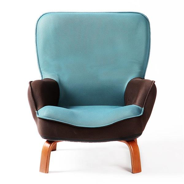 Pleasant Low Sofa Mesh Fabric Wood Legs Accent Arm Chair Caraccident5 Cool Chair Designs And Ideas Caraccident5Info