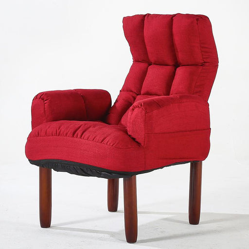 Accent & Armchairs - Modern Fabric Sofa Upholstery Reclining Back Arm Accent Chair