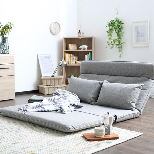 Accent & Armchairs - Modern Legless Leisure Fabric Futon Sofa Chair Bed