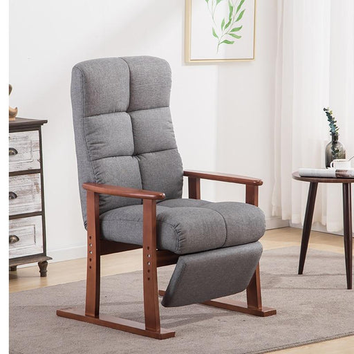 Accent & Armchairs - Modern Living Room Fabric Upholstery Arm Chair With Footstool