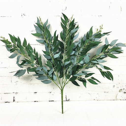 Artificial & Silk Plants - Artificial Willow Fake Leaves Plant Decoration