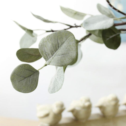 Artificial & Silk Plants - Eucalyptus Plastic Autumn Flower Fake  Plant Decoration