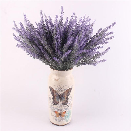 Artificial & Silk Plants - Romantic Lavender Flower Decorative Plants