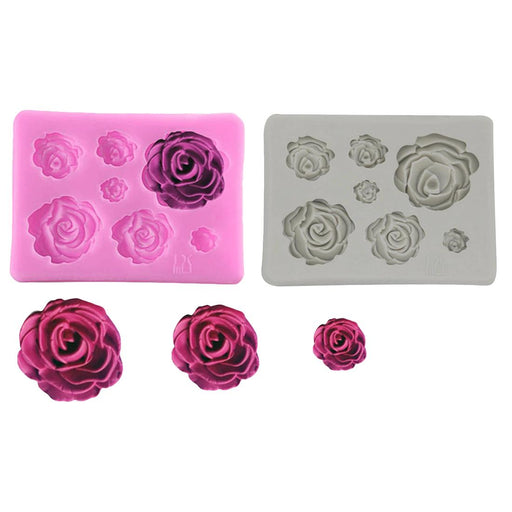 Baking Tools & Accessories - Rose Flower Silicone Decoration Mold Tools