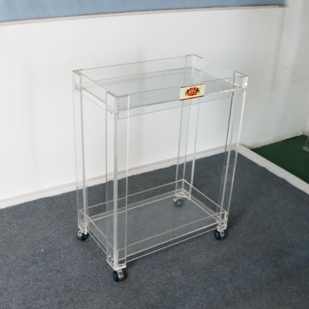 Bar Carts - High Transparent Acrylic Home Use Bar Cart Serving Trolley