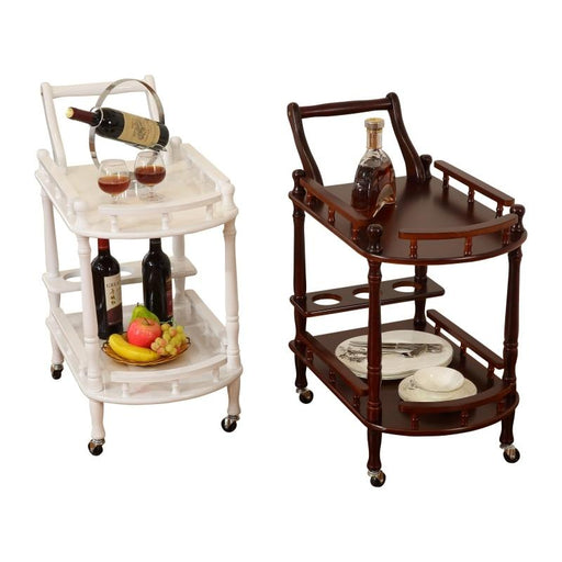 Bar Carts - Hotel Style Trolley Tea Table Wine Bar Serving Cart
