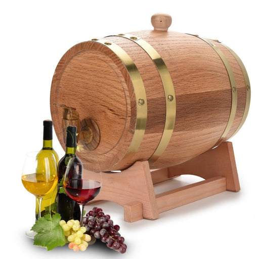 Bar Decoration - 3L Wooden Oak Vintage Whiskey Beer Rum Barrel