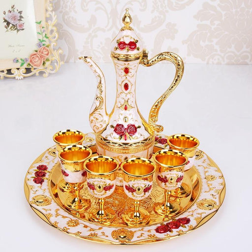Bar Decoration - Retro Palace Zinc Alloy Metal Gold Wine Set