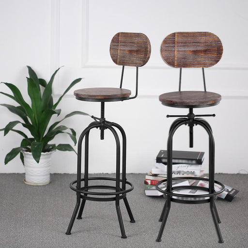 Bar Stools - Industrial Style Modern Adjustable Bar Stool