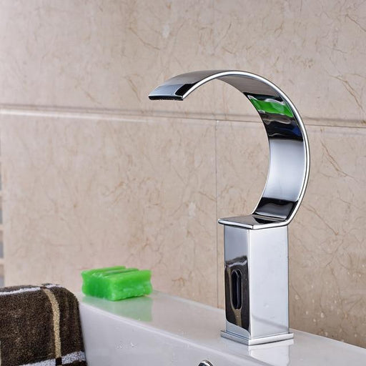 Basin Faucet - Hands Free Automatic Basin Sink Waterfall Style Faucet