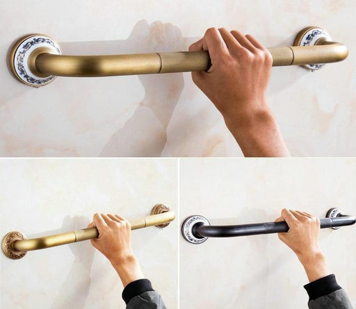 Bathroom Handles - Antique Brass Brushed Bathtub Grab Bars Handrails