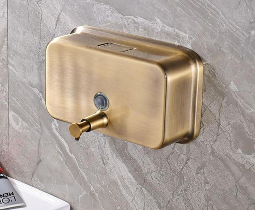 Bathroom Soap Holders - Antique Brass Wall Mounted Soap Dispenser